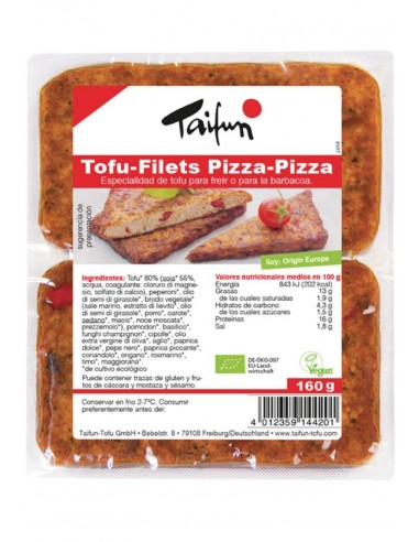 REFRIG FILETES DE TOFU SABOR PIZZA BIO 160 g